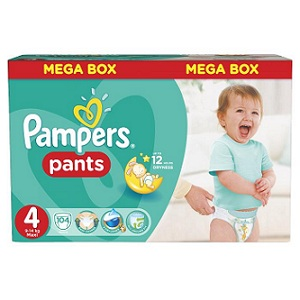 1.Pampers Pants 4 Maxi